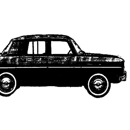 自動車 車 乗用車 イラスト ペン画 mobile vehicle レトロ アンティーク