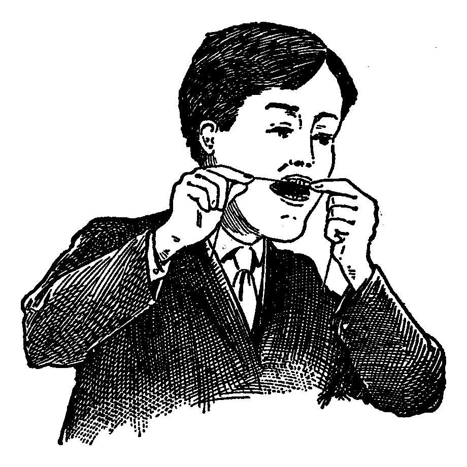 デンタルフロス 歯間ブラシ イラスト フリー素材 ペン画 アンティーク レトロ
